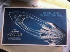 Jaws Poster by Scott Woolston