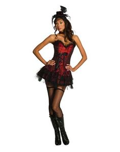 Ooh Lala Saloon Girl Adult Womens Costume