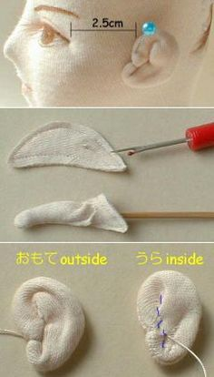 How to generate an ear have TEXTILE DOLL .. | Игрушки | Постила
