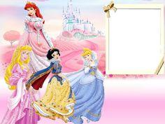 Disney Princess Picture Frame | Walt Disney Princesses Kids Transparent Frame