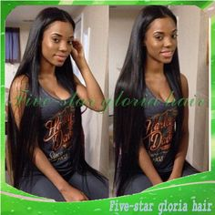 Find More Wigs Information about Middle part 7a 100% unprocessed virgin brazilian silky straight human hair lace front wig with bleached knots for black women,High Quality Wigs from Five-star Gloria hair products Co.,LTD on Aliexpress.com