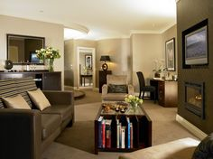 A Contemporary styled Junior Suite in The Killarney Park Hotel Plaza Hotel, Hotel Spa, Leading Hotels, Spa Offers, Five Star Hotel, Welcome Decor, Front Desk, Indoor, Contemporary