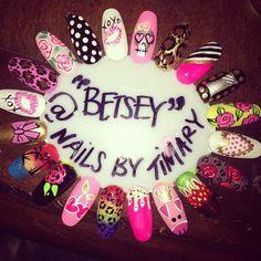 @xobetseyjohnson  #BetseyJohnson #NailWheel  #BetseyNails by #TiMary #BetseyJohnsonNails #BetseyJohnsonNailArt #Betseyville