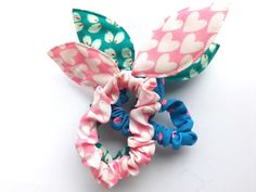 Elastic Hair ties Bunny ears Ponytail Holder Fashion by TheLUX22  #elastichairties #bunnyears #foldoverelastic #hairties #noncrease #etsy #baby #headwear #babybows #hairbows #leopard #hairaccessories #handmadebows #clippies #newbornphotoprops #thelux22