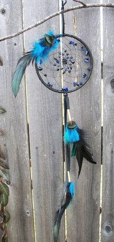 Dream Catcher Onyx and Lapis Lazuli by 7WishesDreamcatchers, $35.00