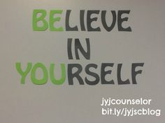 BE YOU! Great message for classroom door!