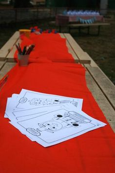 Thomas the Train coloring pages, train visit schedule
