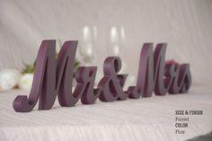 Plum Wedding Decorations, Plum Sign, Plum Centerpieces, Plum, MR & MRS Plum