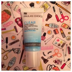 Paula's Choice clear daily moisturizer.