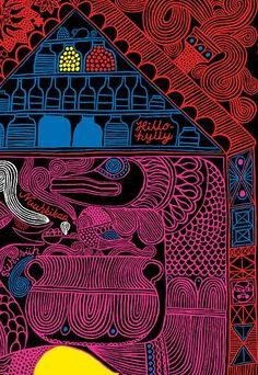 love the gorgeous line drawings of aino-maija metsola