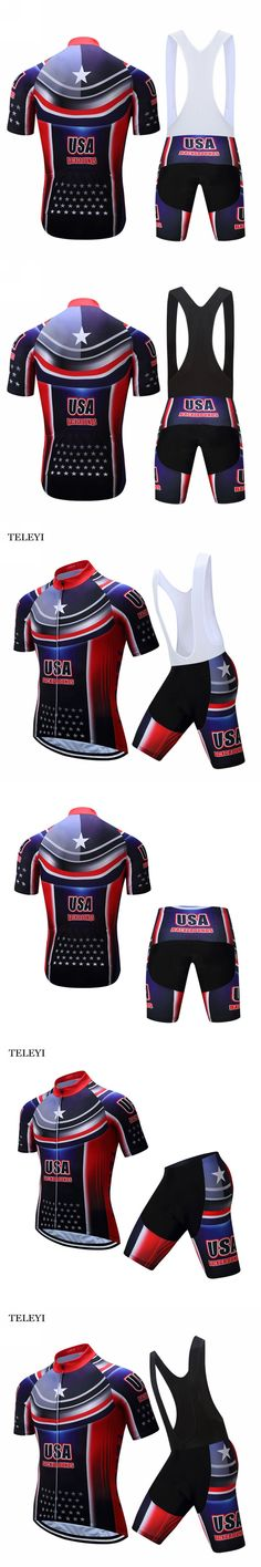TELEYI Team Mens Ropa Ciclismo Outdoor wear Cycling Short Sleeve Cycling Clothing Suit Sportswear Costume Jersey Bib Shorts