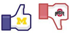 One LIKE for Michigan! #GoBlue #BeatOhio #PinToWin #BeatOhio