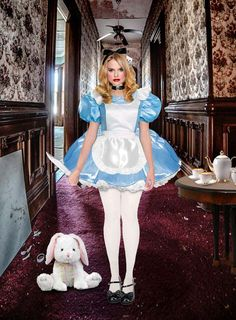 Sissy Likes — sissylikes Costume Alice, Alice Cosplay, Cosplay Girls, Robes Disney, Disney Dresses, Pantyhose Outfits, Nylons, Girly Outfits, Cute Outfits