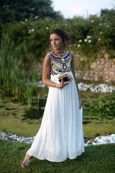 white dress in Veronawhite dress in Verona you could make a white dress and sew beads onto the top of the dress.