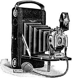 Aged Paper Ephemera Old Fashioned Camera Image Black And White