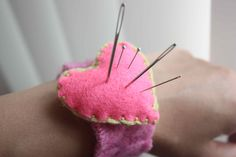 Felt Heart Wrist Pincushion