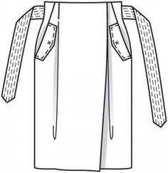 Юбка с запахом - выкройка № 115 А из журнала 2/2016 Burda – выкройки юбок на…