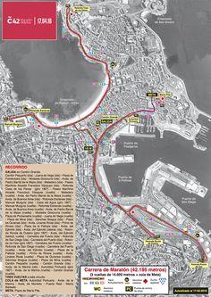 Este 23 de abril toca correr na a Aquí tes o percorrido! Map, Bahia, Cousins, Cities, Location Map, Maps