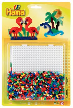 Go flamingo mad with this Flamingo Island Hama beads pack! £5.95 and contains beads, pegboard, designs and ironing paper