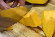 Pumpkin Cut into Cubes