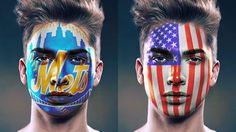 How to Paint Graphics onto a Face in Photoshop