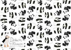 Drawn by Rhiannon panda print design white background Panda Drawing, Photoshop Me, White Pencil, Print Design, Sketches, Black And White, Drawings, Inspiration, Image