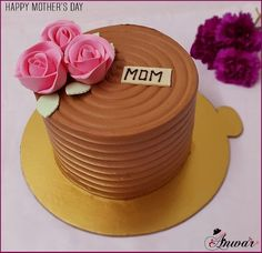 Mom Means everything! Happy Mother's day #mothersday #cake #delicious #foodstagram #flowers #chefAnwar #cream #beautiful #gurment