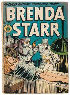 Brenda Starr - whoa! Lil' riske there, Brenda ol' girl...