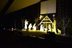 James Trippett fromBon Air Church of the NazareneinKokomo, IN brings us this styrofoam manger scene. They used black landscape fabric to create a backdrop for cotton balls hung from fishing line...
