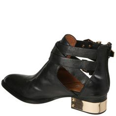 Jeffrey Campbell Everly Buckle Leather Ankle Boots
