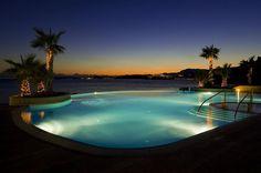 Le Meridien Lav, Split—Night image of the infinity pool by LeMeridien Hotels and Resorts, via Flickr