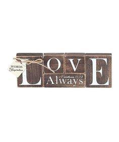 This 'Love Always' Wood Block Sign is perfect! #zulilyfinds
