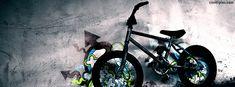 Cool Creative Bike Art Wall Graffiti Facebook Cover Photos