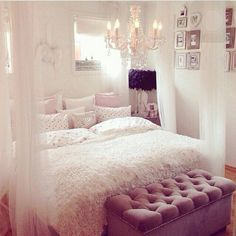 beautiful, bedroom, candles, chandeliers, classic, cute ...
