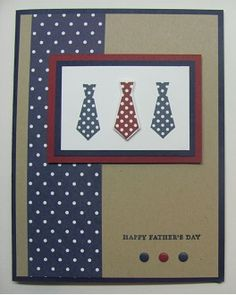 Lynn used the tie stamp & its framelit from Something for Baby with Teeny Tiny Wishes. Clever way to make a guy card! All supplies from Stampin' Up!
