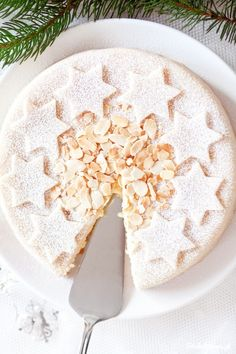 pinned by barefootstyling.com Almond Marzipan Cake ☆