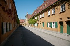 The Fuggerei in Augsburg, Germany. The worlds oldest public housing complex.