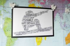 Snowboarder - Personalised Sports A4 Word Art Print. FREE UK P&P. Birthday. Special Occasion, Surfing, Winter Sports. - pinned by pin4etsy.com