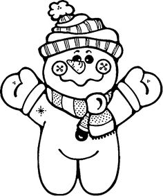 Cartoon of cartoon snowman wearing blue mittens vector clip art image number Image formats available GIF, JPG and printable EPS, SVG. Snowman Coloring Pages, Christmas Coloring Pages, Coloring Book Pages, Printable Coloring Pages, Coloring Sheets, Christmas Colors, Christmas Snowman, Christmas Crafts, Xmas