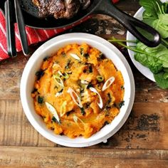 Sweet Potato Colcannon (Irish Style Mash with Kale)