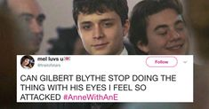 """22 Posts About """"Anne With An E"""" On Netflix That Are By Kindred Spirits Get you someone who looks at you like Gilbert Blythe looks at Anne Shirley. Best Series, Tv Series, Gilbert And Anne, Leslie Knope, Anne With An E, Anne Shirley, Kindred Spirits, Book Tv, Period Dramas"""