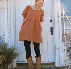 Organic Linen Backyard Tunic by consciousclothing on Etsy