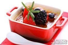 Receita de Creme brulée com frutas vermelhas - Comida e Receitas