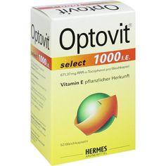 OPTOVIT select 1.000 I.E. Kapseln:   Packungsinhalt: 50 St Kapseln PZN: 03646659 Hersteller: HERMES Arzneimittel GmbH Preis: 24,10 EUR…
