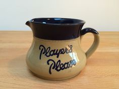A personal favourite from my Etsy shop https://www.etsy.com/uk/listing/253656828/vintage-players-please-pub-water-jug
