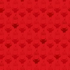Cotton Fabric - Character Fabric - Minion Movie Kevin Tonal Blender Red