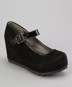 Another great find on #zulily! Black Dolly Platform Mary Jane #zulilyfinds