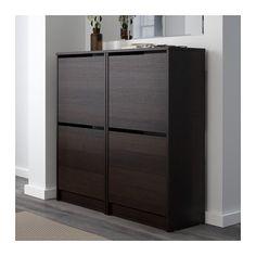 BISSA 2칸신발장 - 블랙/브라운 - IKEA