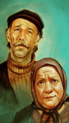~ Münir Özkul & Adile Naşit Mysterious Words, Ocean Pictures, Film Books, Galaxy Wallpaper, Film Movie, Movies, Caricature, Drawing, Vintage Posters