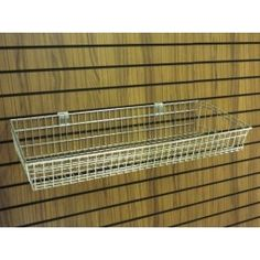 Slatwall large basket:  This quality chrome slatwall accessory is a perfect addition to your slatwall display area.  Ideal for many product displays.